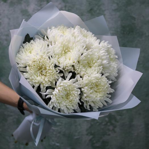 Букет из одноголовой хризантемы