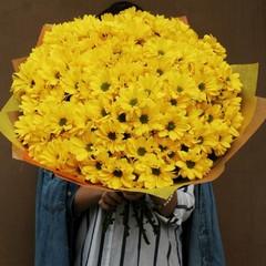 Букет из желтых хризантем