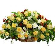 Корзина цветов К005
